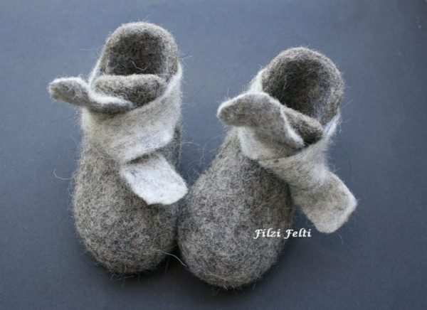 gray, textile shoes