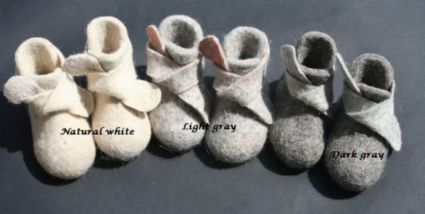 natural white, gray, textile shoes