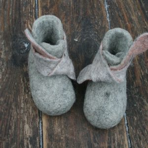 grey and pink textiles shoes